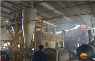 The continuous refine salt fuidized bed dryer with capacity 1000 kg/hour in workshop of chemical experiment Thu Duc, 9 Dist, Ho Chi Minh.